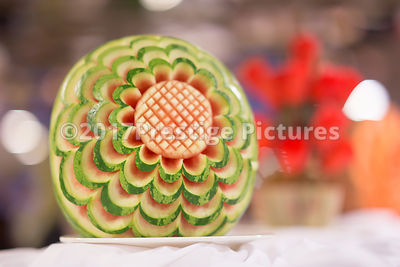 Watermelon Carving on Display
