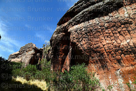 Rock formation that resembles an elephant in Ciudad de Itas, Torotoro National Park, Bolivia