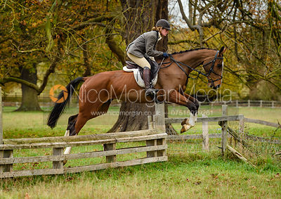 Jess Butler jumping a fence near The Kennels.