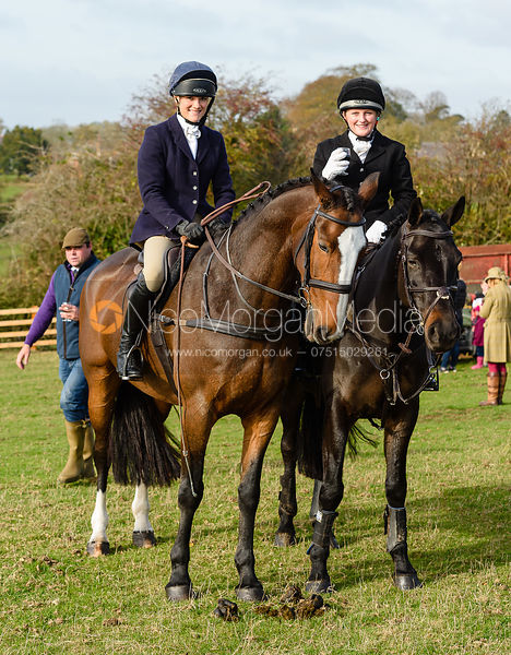 Isobel McEuen, Hermione Brooksbank, Cottesmore Hunt Opening Meet 2018