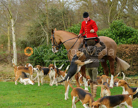 John Holliday at the meet at Goadby Hall - The Belvoir Hunt at Goadby Hall 24/12