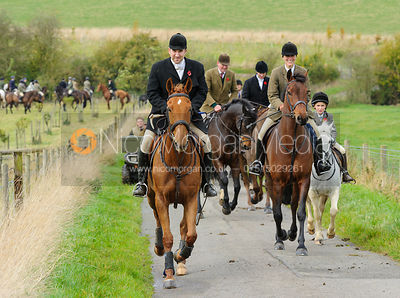 Russell Cripps and Sara Hercock - The Cottesmore Hunt at Somerby, 2-11-13