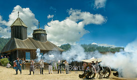 Historic re-enactment at Fortress Ross, California, U.S.A.