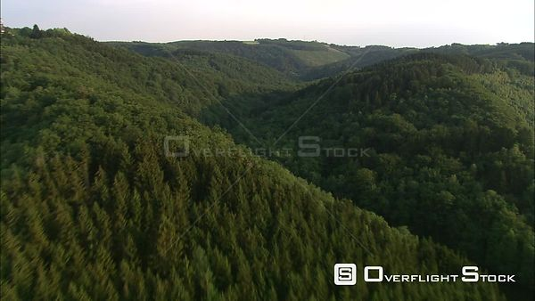 Over the forested hills of the Ardennes, Belgium