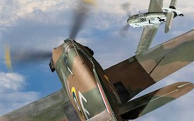 Hawker Hurricane deflection shot (detail)