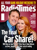Peter Kay and Sian Gibson on the front of the Radio Time