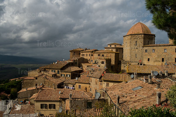 View of the countryside from Volterra, Italy