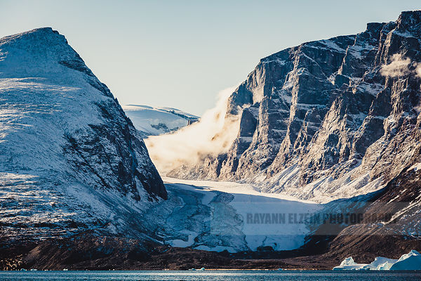 "One of the ""dead glaciers"" in the Uummannaq fjord in Greenland. Less than 10 years before this picture was taken, the glacier..."
