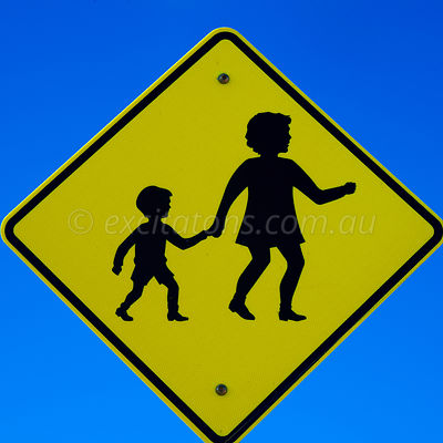Parents with children sign.
