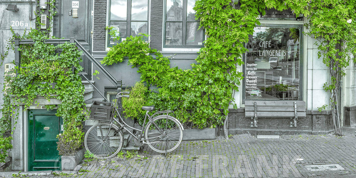 Bicycle outside a building, Amsterdam