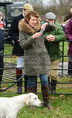 Emma Leeming At the meet. The Cottesmore Hunt at Bleak House 18/12