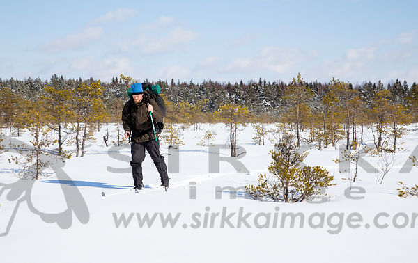 Skiing on mire