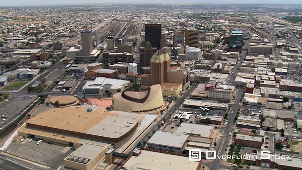 El Paso, downtown and surrounding areas.