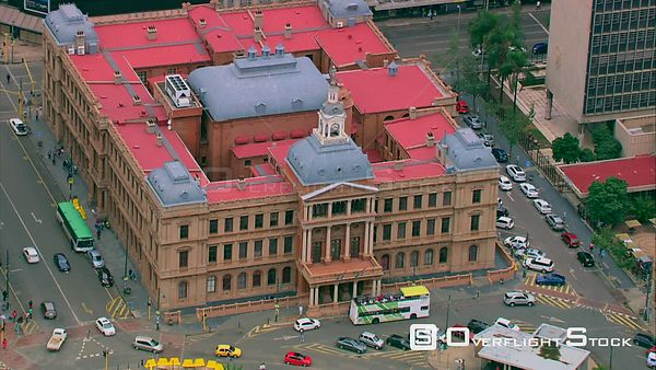 Aerial shot of the Old Council Chamber in Pretoria. Pretoria Gauteng South Africa