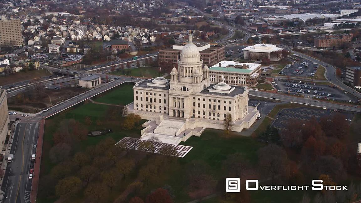 Aerial View of Rhode Island State House.