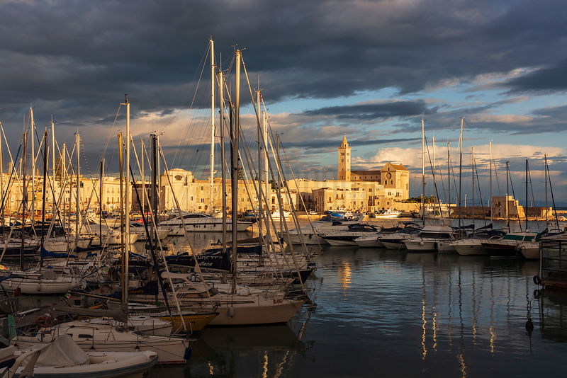 The Harbour and Cathedral at Trani at Sunrise