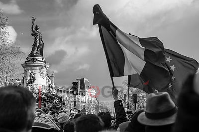 France, Paris, 11 janvier