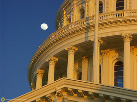 State Capitol and Moon #2