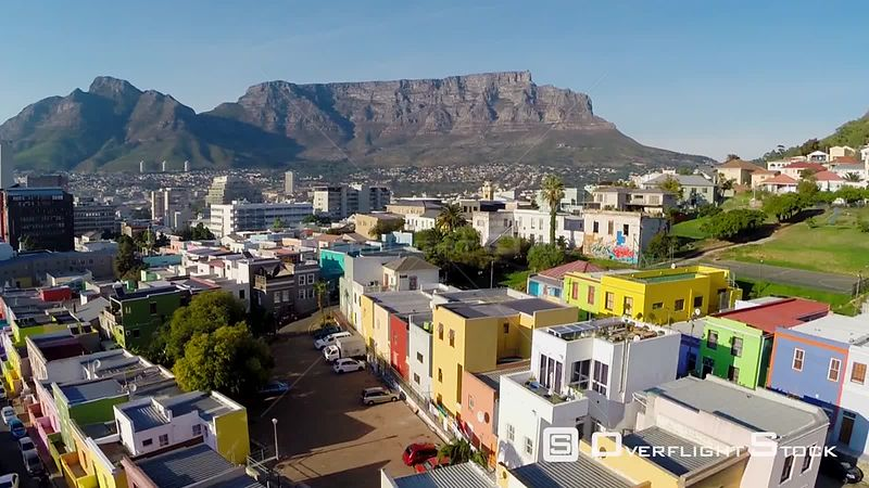Aerial shot of Bo-Kaap in Cape Town. Western Cape South Africa