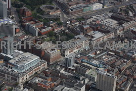 Leeds aerial photograph of the Light Shopping and Entertainment Centre Dortmund Square and Broadgate the Headrow