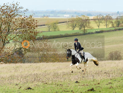 Daisy Liddle at Stone Lodge. The Cottesmore Hunt at Tilton