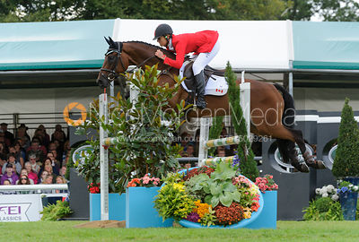 Rebecca Howard and RIDDLE MASTER - show jumping phase,  Land Rover Burghley Horse Trials, 8th September 2013.