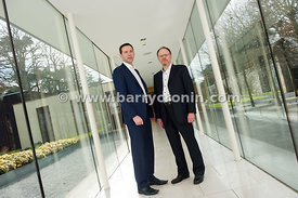 4th March, 2015.Pictured from left: Darren Cunningham (CEO) and Dr Michael O'Neill (R&D Manager) of Inflection BIO SCIENCE.Ph...
