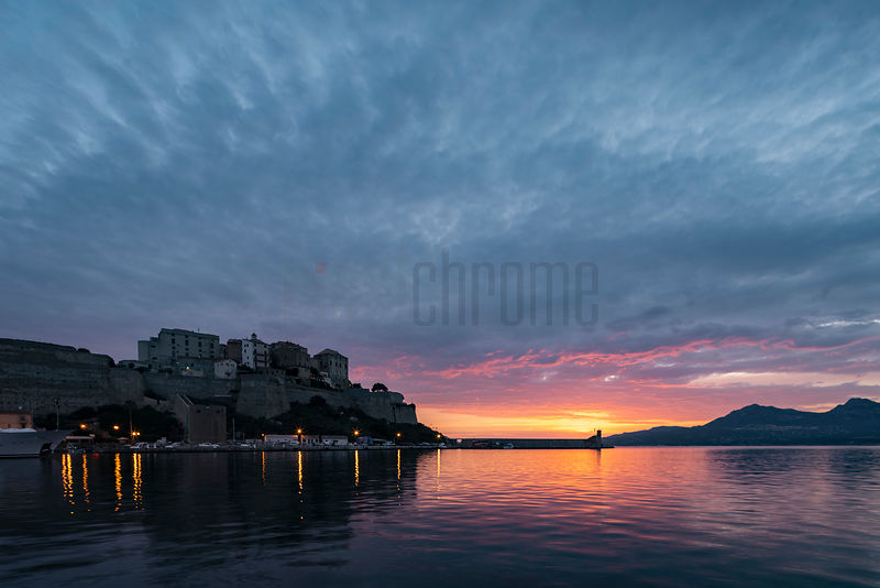 The Citadel of Calvi at Sunrise