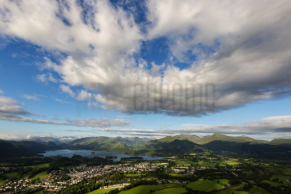 View of the Village of Keswick and Derwent Water from Latrigg