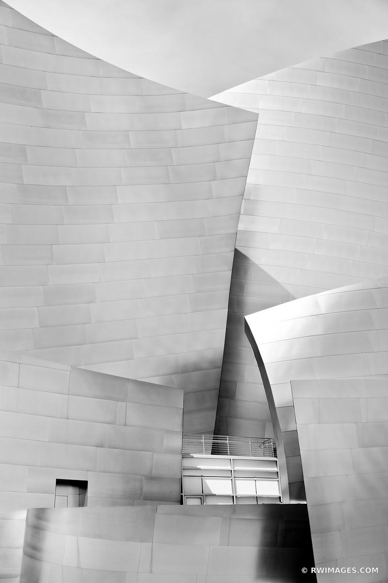 WALT DISNEY CONCERT HALL DOWNTOWN LOS ANGELES BLACK AND WHITE VERTICAL