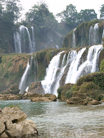 Detian Waterfall by lake, Guangxi Province, South China