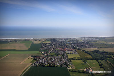 aerial photograph of Hemsby Norfolk England UK