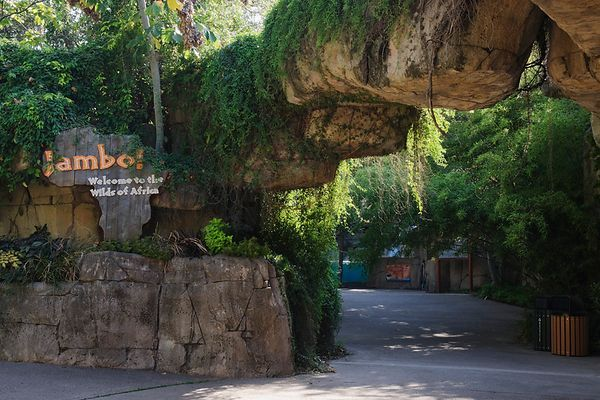Entrance to the Wilds of Africa at the Dallas Zoo