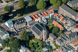 Haarlem - Luchtfoto Luthers Hofje