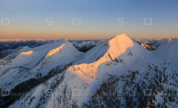 Snow Covered Peaks in the Kootenays BC