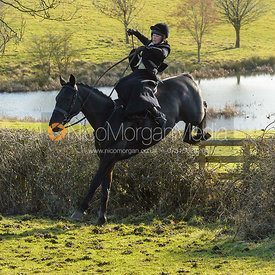 Sophie Walker jumping a hedge at Bleak House