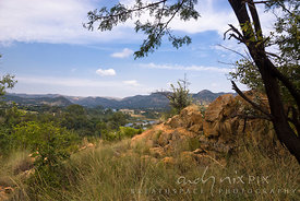 View of the Vaal River and valley near Parys