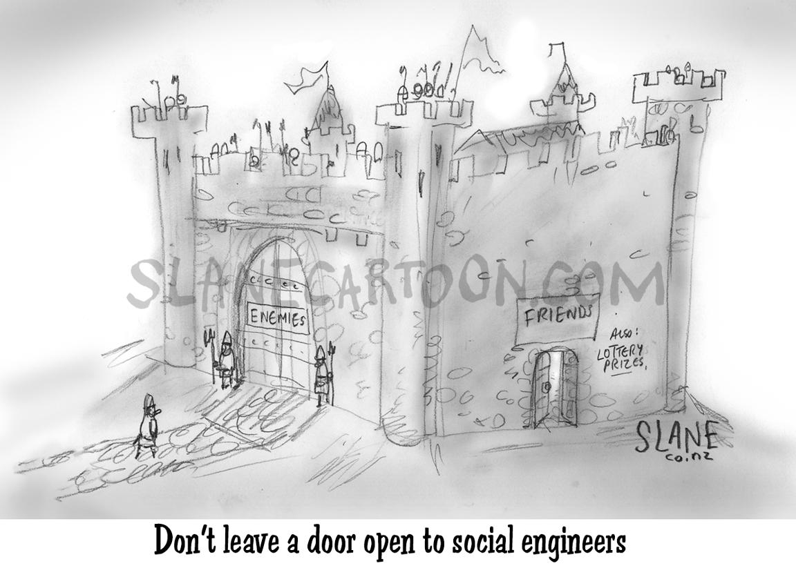 Castle Open To Social Engineers