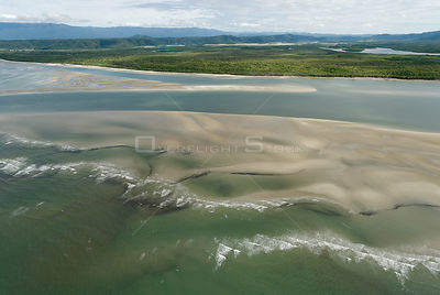 Aerial view of the Daintree River, Queensland, Australia
