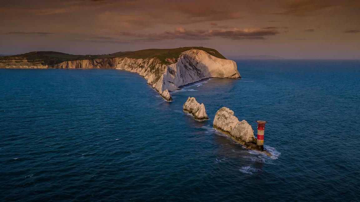 Aerial View of The Needles, on the Isle of Wight