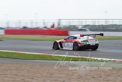 Oman Racing Aston Martin Vantage GT3, in action at the Silverstone 500 - the third round of the British GT Championship 2014 ...