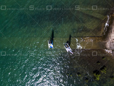 Catamarans going out for a play, Cleveland QLD Australia