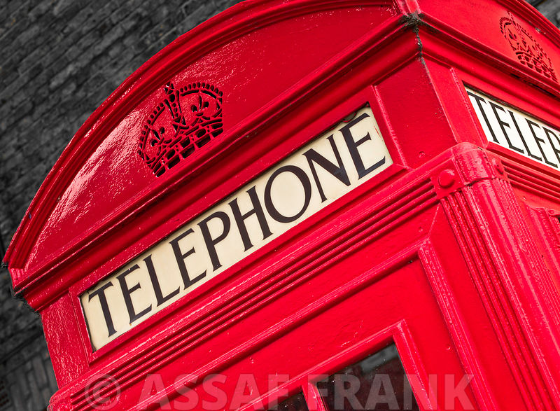 Telephone box close-up