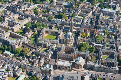 Aerial view of Oxford University, Oxford