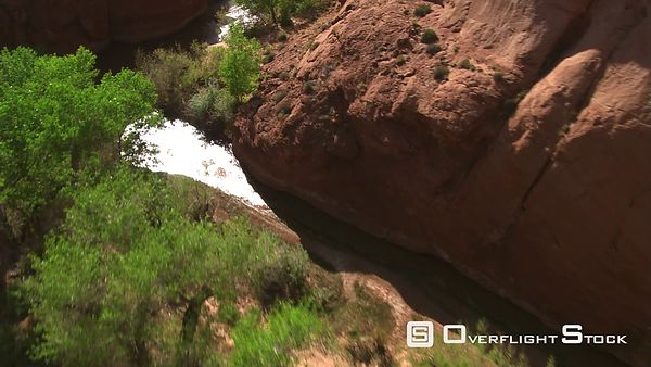 Low flight above Chaol Canyon waters in Arizona