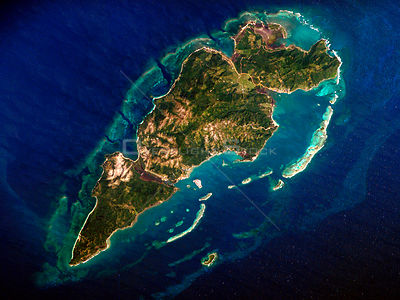 EARTH Guanaja Island -- 01 Mar 2007 -- Guanaja Island is located in the western Caribbean, approximately 60 kilometers (about...