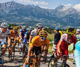 The Peloton in Alps