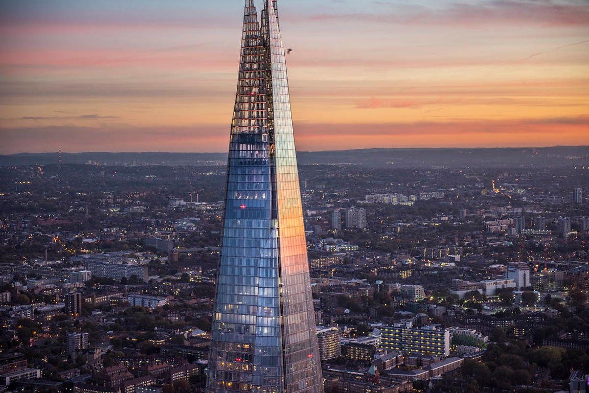 The Shard at dusk, London