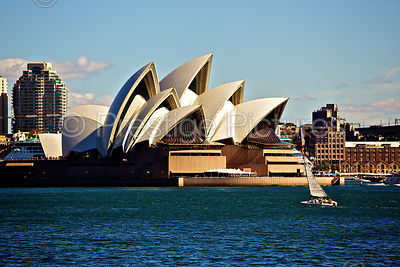 Sailing Boat by the Sydney Opera House