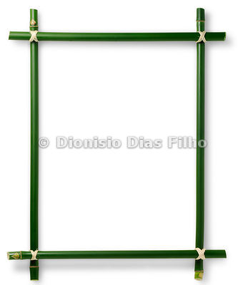 Frame frame in Bambo Tied with rope